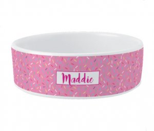 Ceramic Bowl - Pink Sprinkles