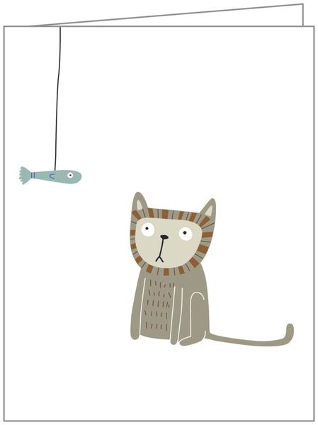 Cat and Fish Card