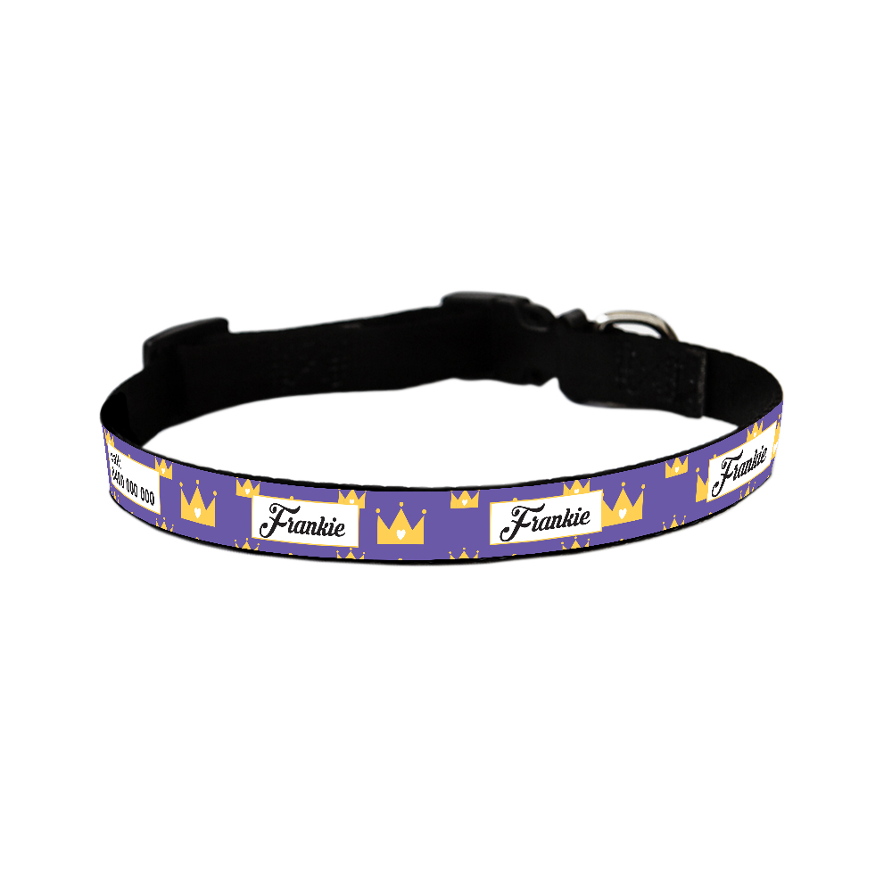 Dog Collar - Regal Crown in a Variety of Colours