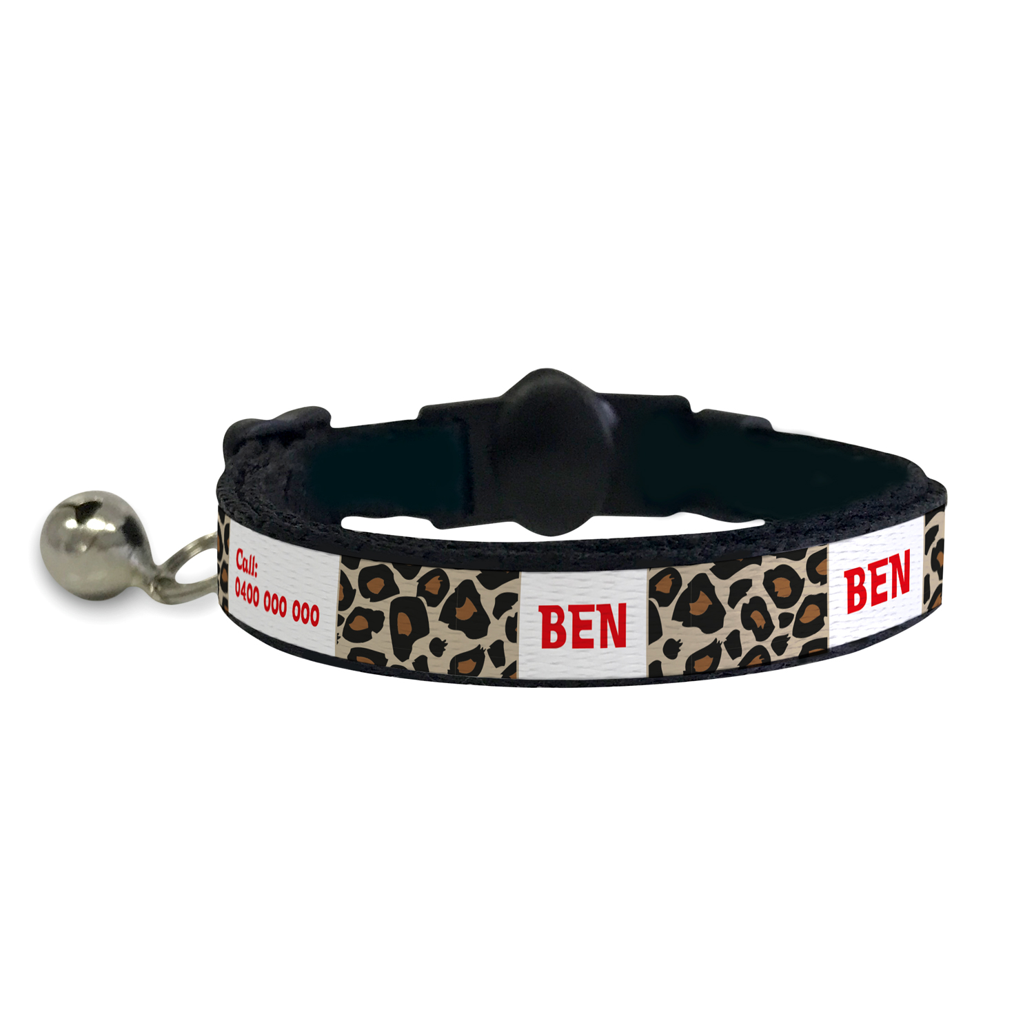 Cat Collar - Leopard in Red, Pink or Blue