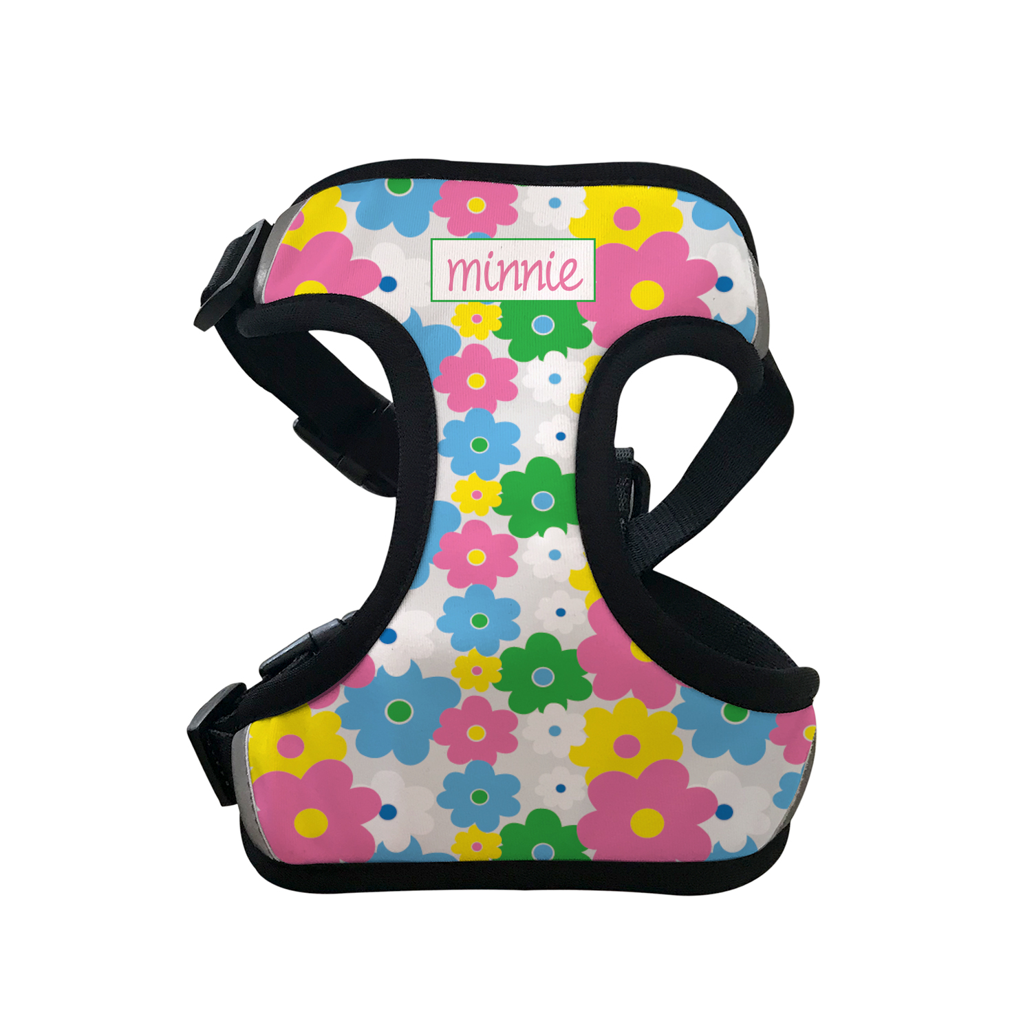 Personalised Pet Harness - Floral
