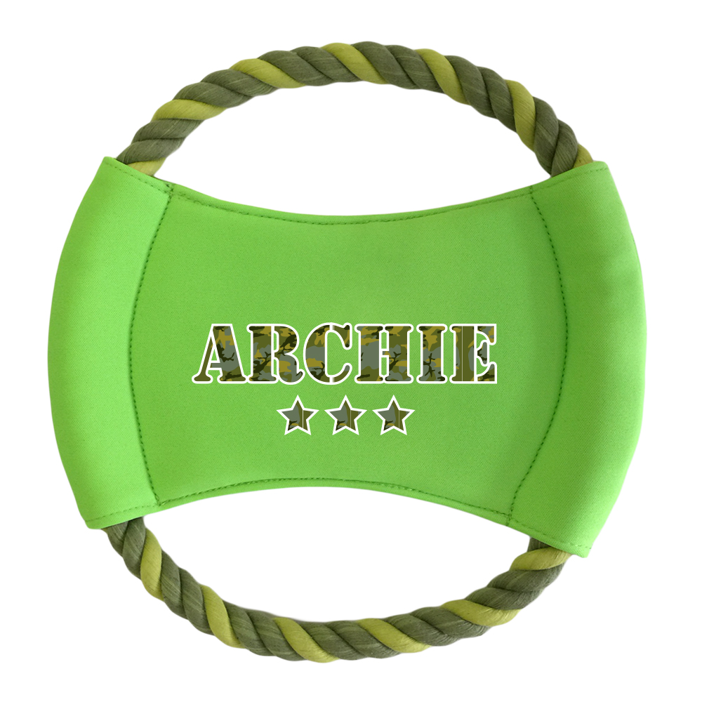 Dog Toy- Round Rope Frisbee - Limited Camo