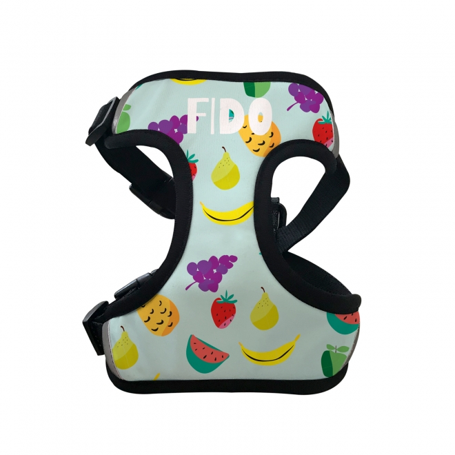 Personalised Pet Harness - Fruity in a Variety of Colours