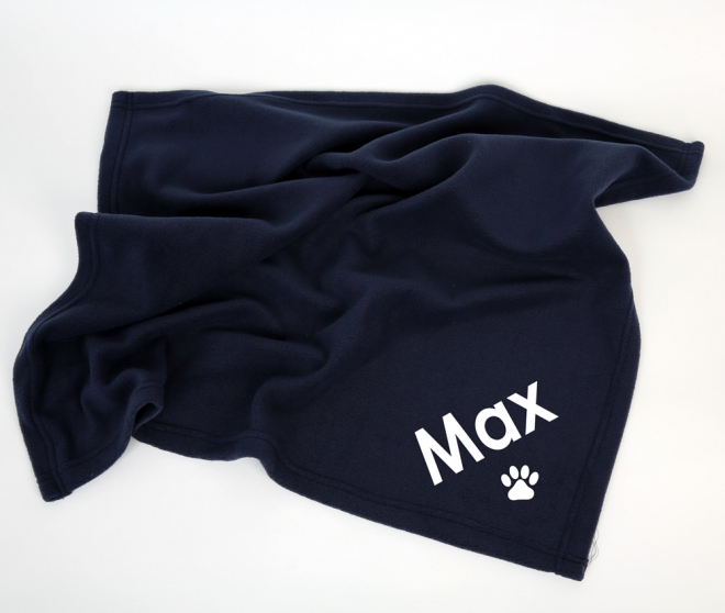 Polar Fleece Pet Blanket - Navy