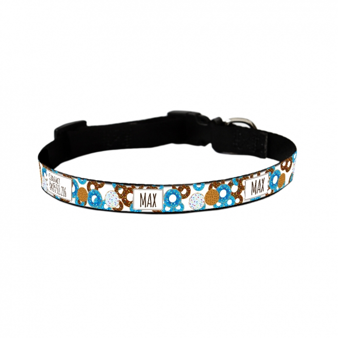 Dog Collar - Doughnut Blue